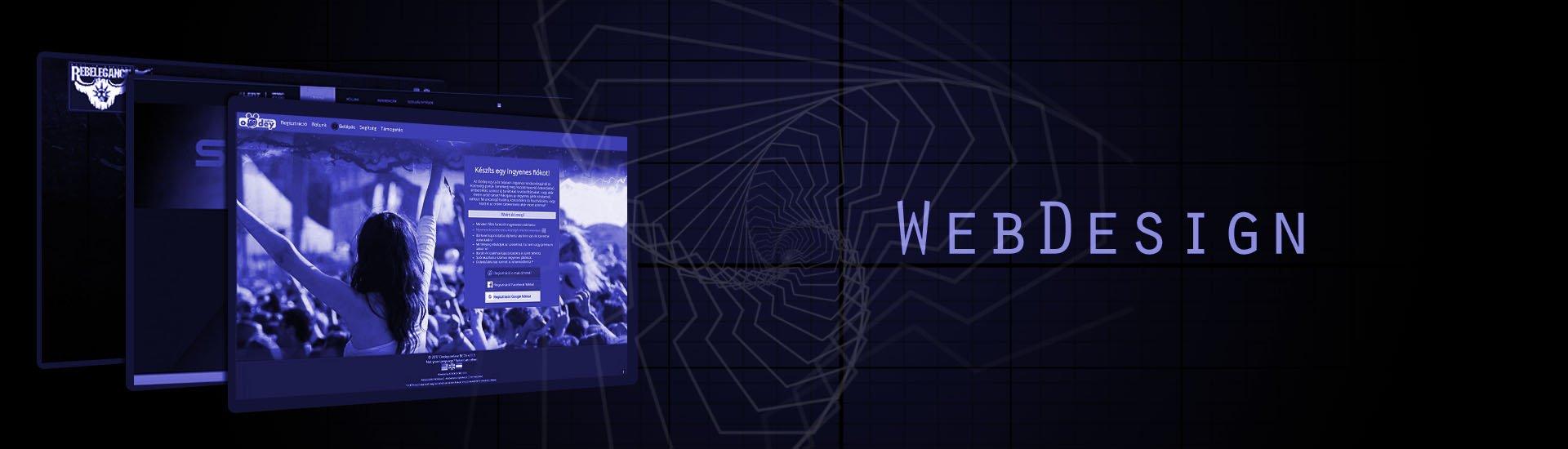 webdizájn tervezés, webdesign készítés